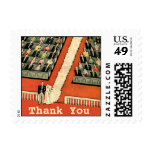 Vintage Art Deco Wedding Thank You Stamps