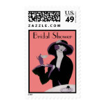 Vintage Art Deco Woman, Afternoon Tea and Cupcake Stamps