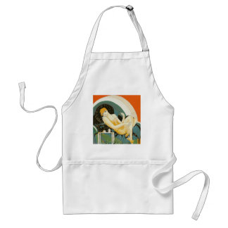 Vintage Art Deco Woman Reclining on Couch, Chompre Adult Apron