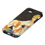 Vintage Art Deco Woman, Smoking by S. Chompre iPhone 5 Cover