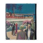 Vintage Art Deco Yacht Boat Cocktail Party Fashion iPad Folio Covers