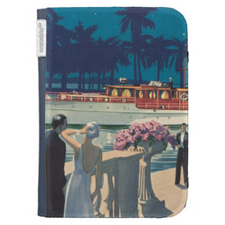 Vintage Art Deco Yacht Boat Cocktail Party Fashion Kindle 3 Cases