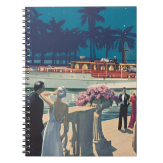 Vintage Art Deco Yacht Boat Cocktail Party Fashion Notebook