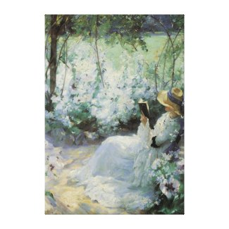 Vintage Art, Delicious Solitude by Frank Bramley Canvas Print