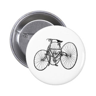 Vintage Art Early Bicycle Tricycle Steampunk Pinback Buttons