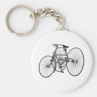 Vintage Art Early Bicycle Tricycle Steampunk Keychains
