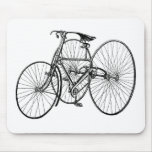 Vintage Art Early Bicycle Tricycle Steampunk Mousepad