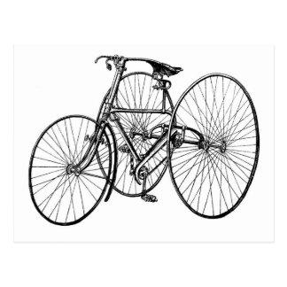 Vintage Art Early Bicycle Tricycle Steampunk Postcard
