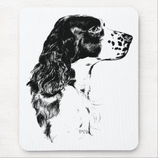 Vintage Art English Springer Spaniel Dog Mousepad