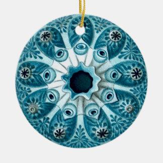 Vintage Art Ernst Haeckel Double-Sided Ceramic Round Christmas Ornament