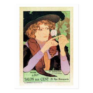 Vintage art Expo Salon des Cent Postcard