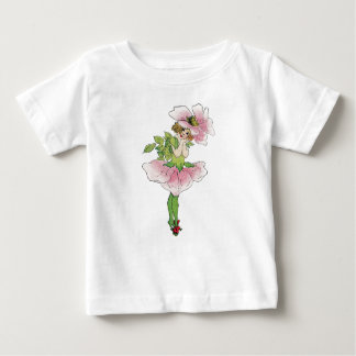 Vintage Art Fairy Rose Flower Girl Baby T-Shirt