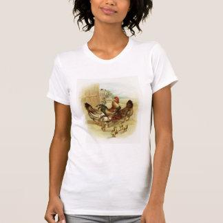 Vintage Art Farm Chickens T-Shirt
