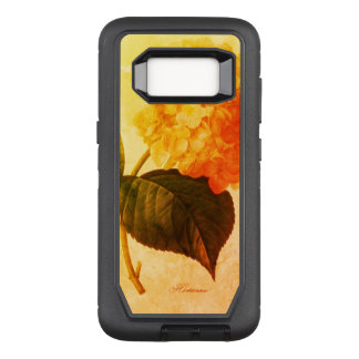 Vintage-Art_Floral_Golden-Peach-Retro_Stylish OtterBox Defender Samsung Galaxy S8 Case