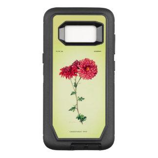 Vintage-Art_Floral_Mums_Rose-Paris-Green OtterBox Defender Samsung Galaxy S8 Case