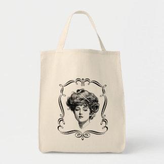 Vintage Art Gibson Girl Tote Bag