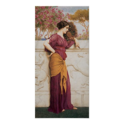 Vintage Art Godward-The_Peacock_Fan-1912 Poster