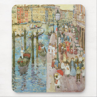 Vintage Art, Grand Canal, Venice by Prendergast Mouse Pad