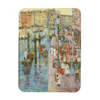 Vintage Art, Grand Canal, Venice by Prendergast Rectangular Photo Magnet
