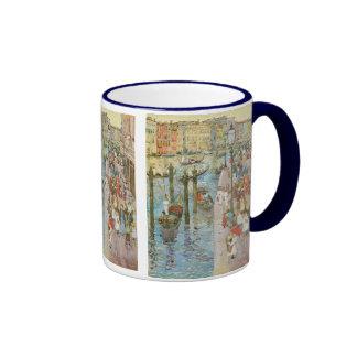 Vintage Art, Grand Canal, Venice by Prendergast Ringer Coffee Mug