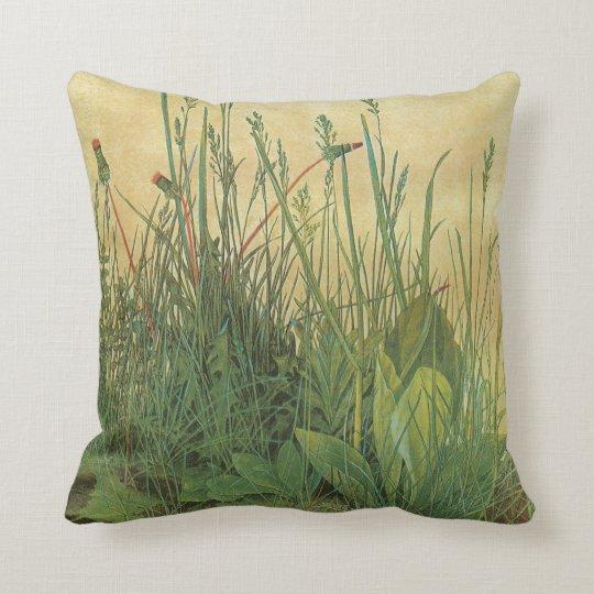 Vintage Art, Great Piece of Turf by Albrecht Durer Throw Pillow