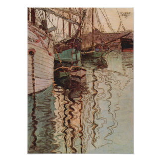 Vintage Art, Harbor of Trieste by Egon Schiele Poster