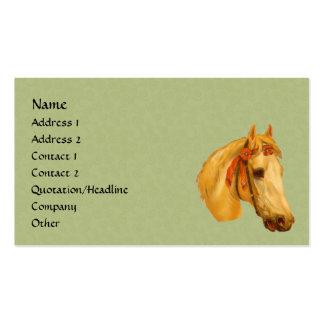Vintage Art Horse Head Animal Business Card