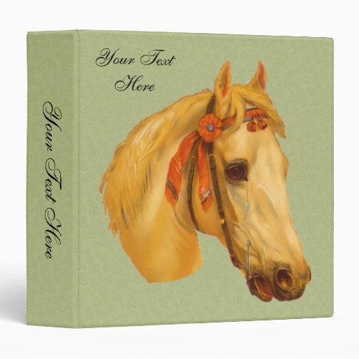 Vintage Art Horse Head Drawing Binder