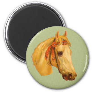 Vintage Art Horse Head Drawing Magnet