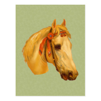 Vintage Art Horse Head Drawing Postcard