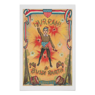 Vintage Art - Hurrah ! a Bully Forth -4th of July Poster