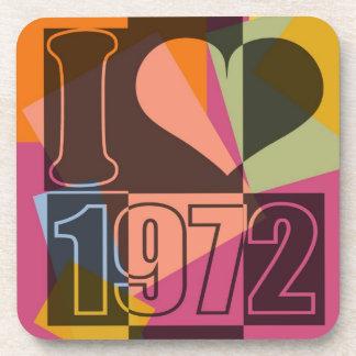 Vintage Art - I love (heart) 1972 Coasters