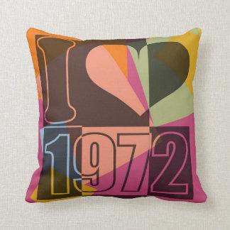 Vintage Art - I love (heart) 1972 - Pillow