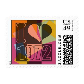 Vintage Art - I love (heart) 1972 - Postage