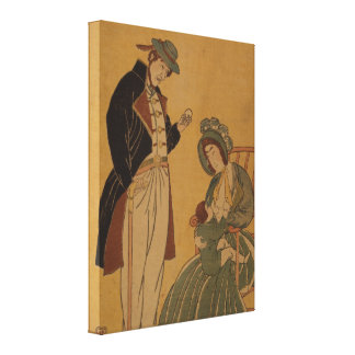 Vintage Art Image of American Family pre-1900s Canvas Print