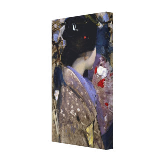Vintage Art, Japanese Lady with Fan by Henry Canvas Print