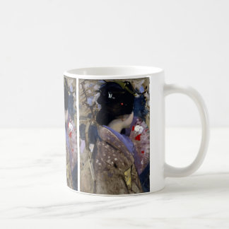 Vintage Art, Japanese Lady with Fan by Henry Coffee Mug
