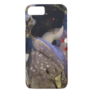 Vintage Art, Japanese Lady with Fan by Henry iPhone 7 Case