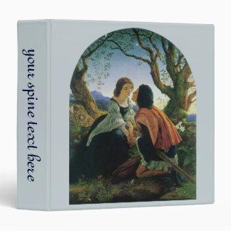 Vintage Art, Lovers at Dusk, Sir Joseph Noel Paton 3 Ring Binder