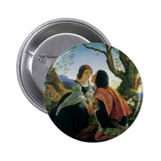 Vintage Art, Lovers at Dusk, Sir Joseph Noel Paton Pins