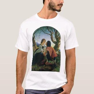 Vintage Art, Lovers at Dusk, Sir Joseph Noel Paton T-Shirt