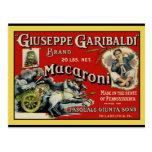 Vintage Art Macaroni Label Poster Postcard