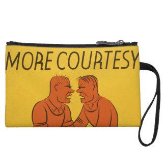 Vintage Art - Manners arguing Wristlet Purse