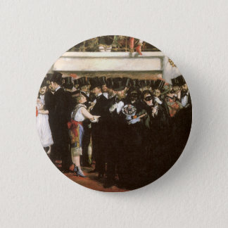Vintage Art, Masked Ball at the Opera by Manet Button