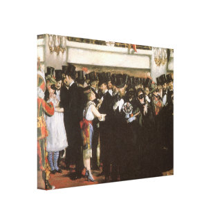 Vintage Art, Masked Ball at the Opera by Manet Canvas Print