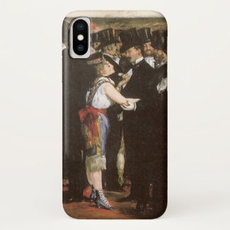 Vintage Art, Masked Ball at the Opera by Manet iPhone X Case