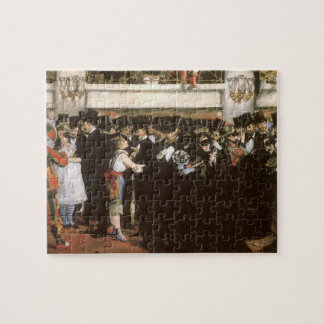 Vintage Art, Masked Ball at the Opera by Manet Jigsaw Puzzle