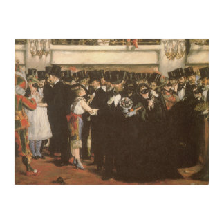 Vintage Art, Masked Ball at the Opera by Manet Wood Wall Decor