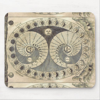 Vintage Art Moonchart - phases of moon Mouse Pad