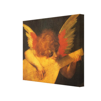 Vintage Art, Musician Angel by Rosso Fiorentino Canvas Print